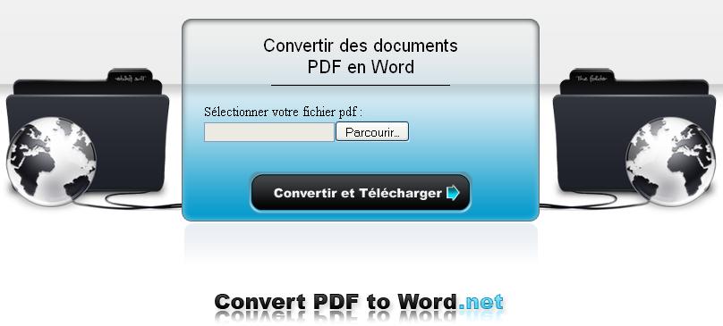 Convertissez vos PDF en fichier Word