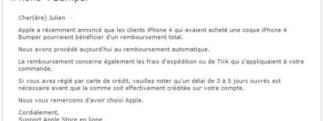 iPhone 4 – Lancement de la campagne de remboursement des Bumpers