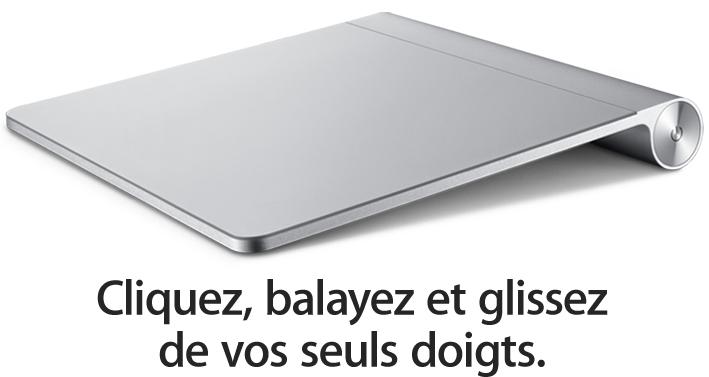 apple magic track le 1er trackpad multi touch pour ordinateurs de bureau mac unsimpleclic. Black Bedroom Furniture Sets. Home Design Ideas