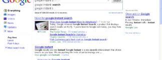 Instantise, Instant Search sur plusieurs services web