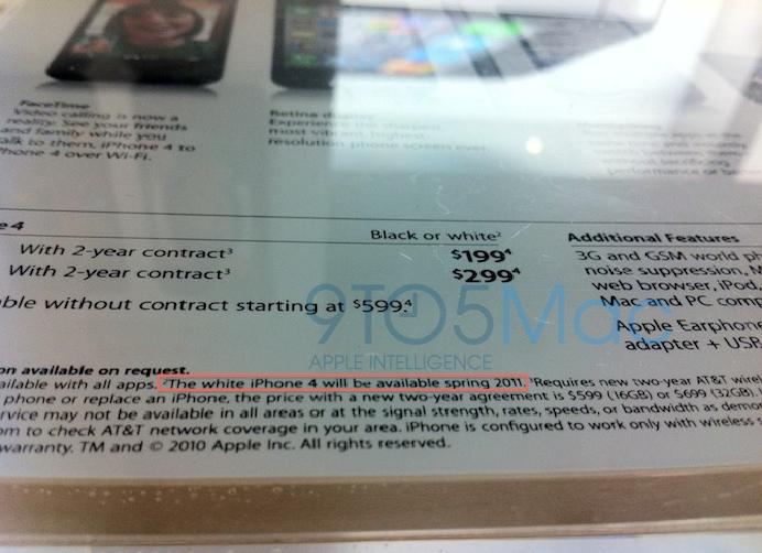 L'annonce de l'iPhone 4 blanc