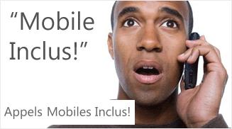 Avec la Freebox Revolution, les appels vers les mobiles sont inclus...seulement depuis chez vous!