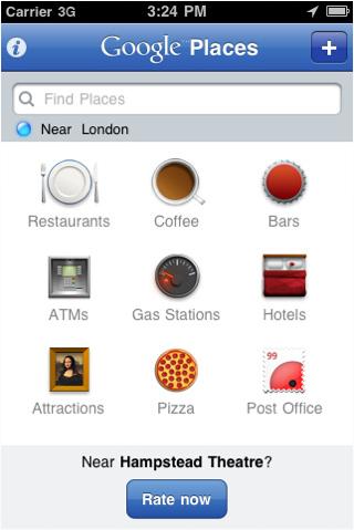 Google Places : Points d'intérêts par défaut