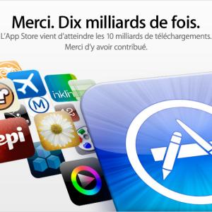 10 milliards d'applications téléchargées sur l'AppStore