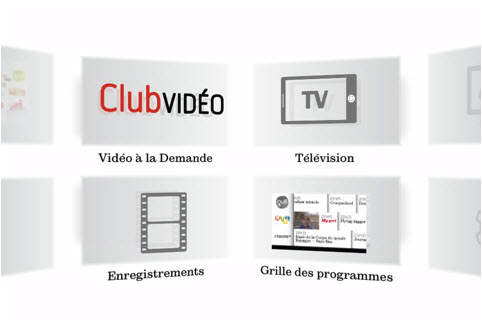 SFR Neufbox TV - Carrousel en 3 dimensions