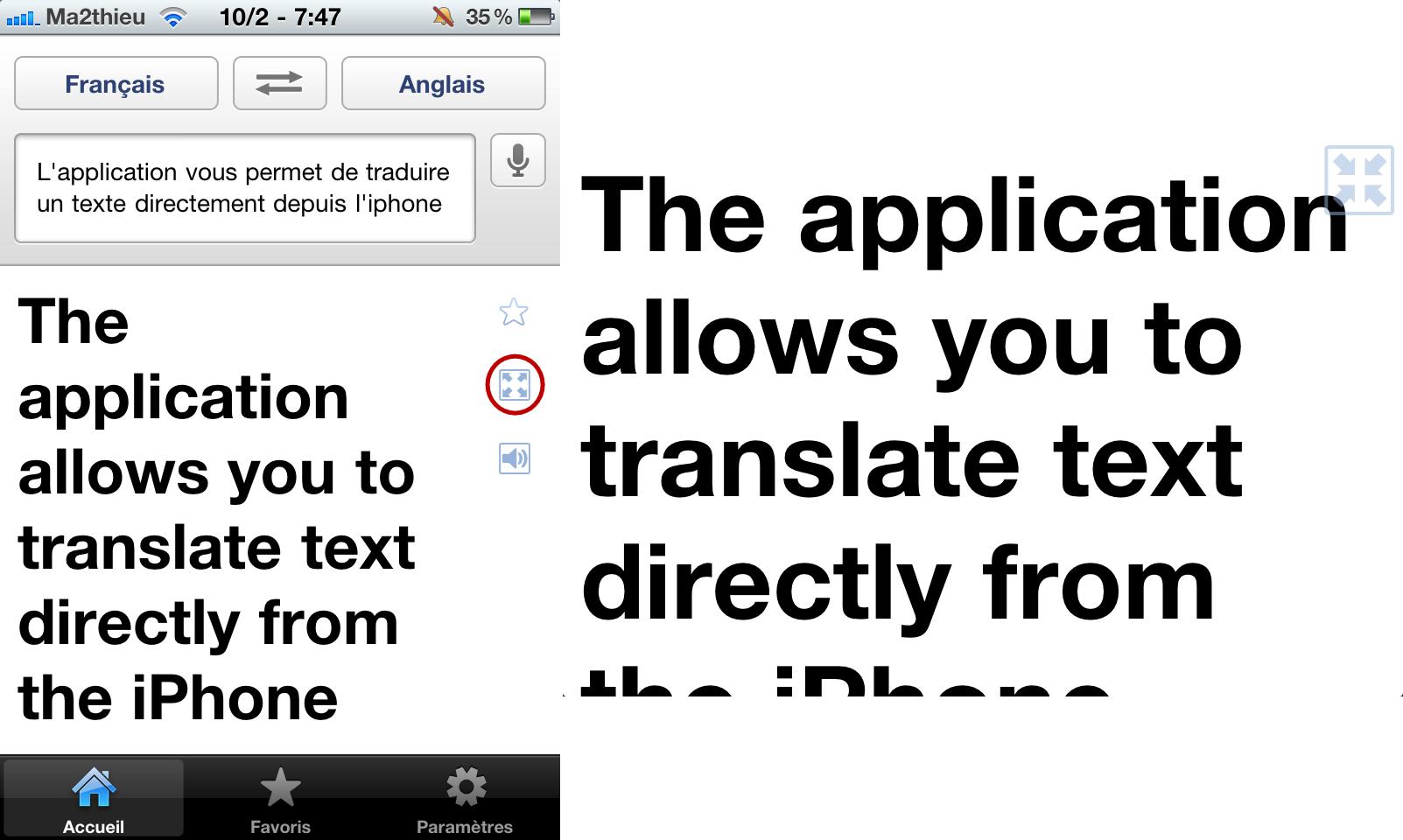 Google translate l 39 application gratuite pour iphone de l for Ouvre la fenetre translation