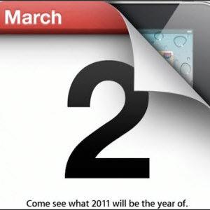 Présentation de l'iPad 2 lors de la Keynote du 2 mars 2011