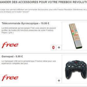 La boutique accessoire pour les abonnés Freebox Revolution accessible