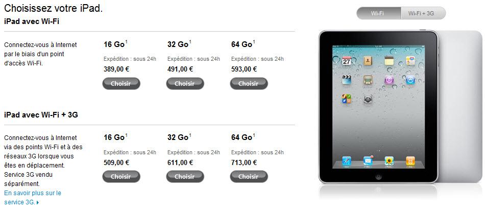 Apple casse les prix de l'iPad 1!