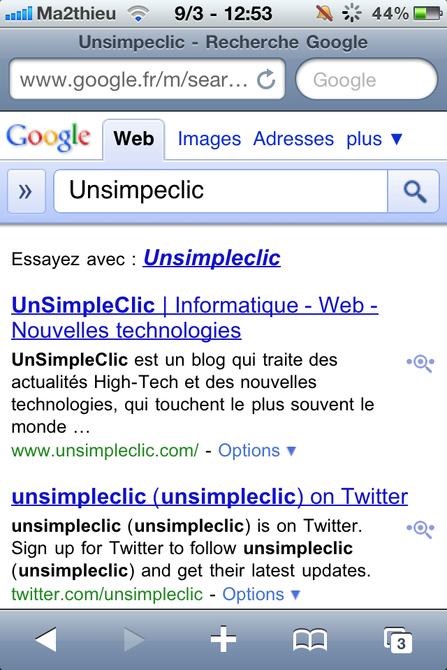 Google Instant Previews sur iOS et Android - La loupe