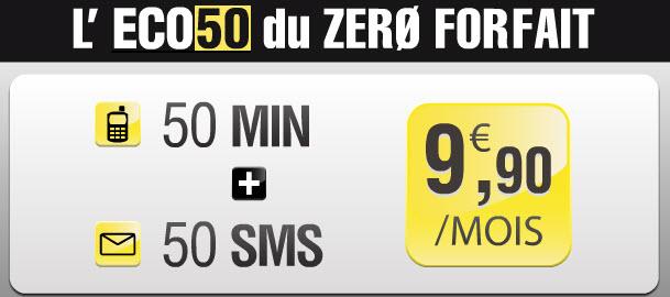L'offre Eco50 de Zero Forfait