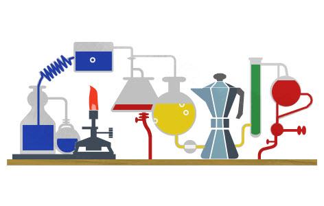 Doodle pour le 200ème anniversaire de la naissance de Robert Bunsen