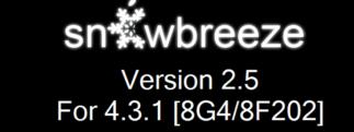 Pas à Pas du jailbreak unthetered de l'iOS 4.3.1 avec Snowbreeze
