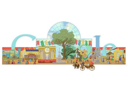 Doodle Google pour fêter le 160ème anniversaire de la 1ère exposition universelle