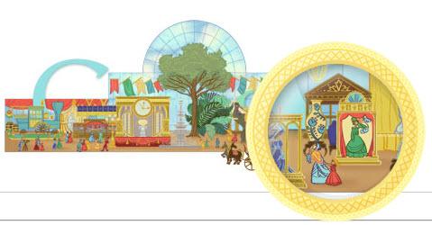 Doodle animé pour fêter la 1ère Exposition Universelle