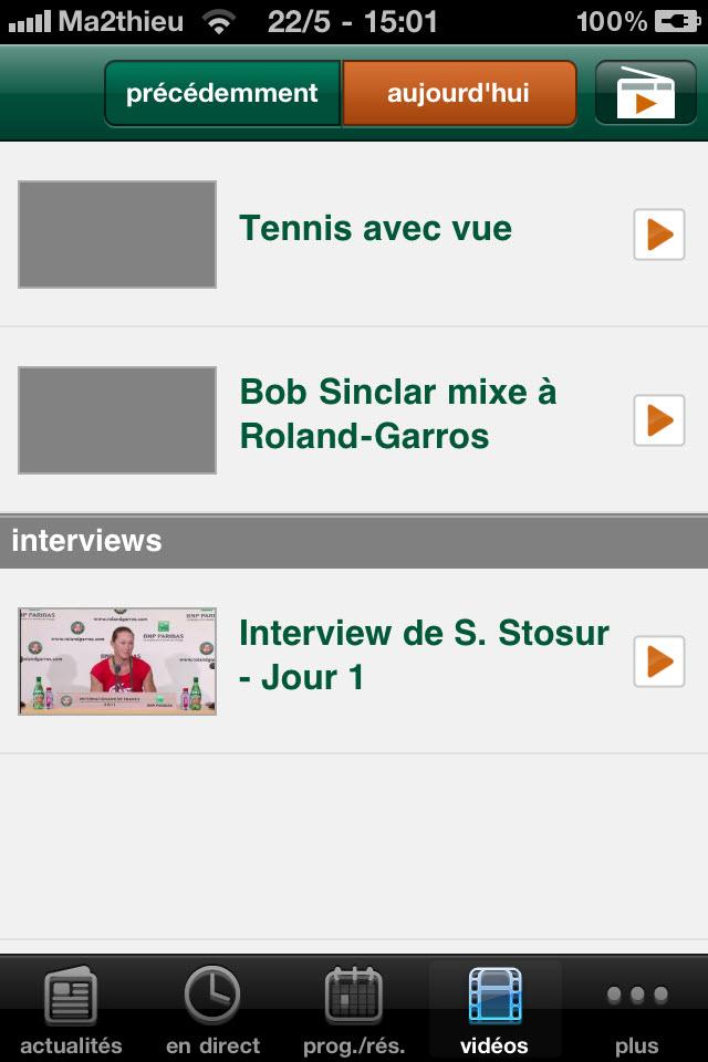 Roland Garros 2011 - Vidéos