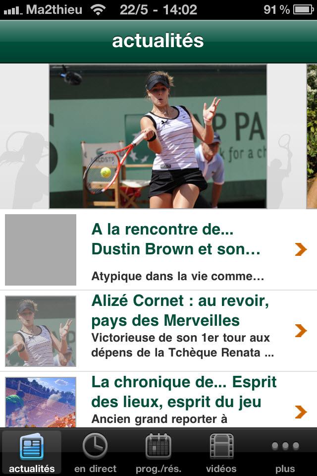 Roland Garros 2011 - Actualités