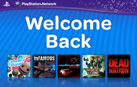 PSN - Le programme Welcome Back