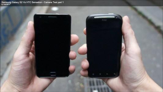 Comparatif HTC Sensation et Galasy S 2