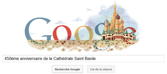 Doodle pour le 450ème anniversaire de la cathédrale Saint Basile