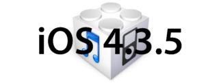 L'iOS 4.3.5 est disponible