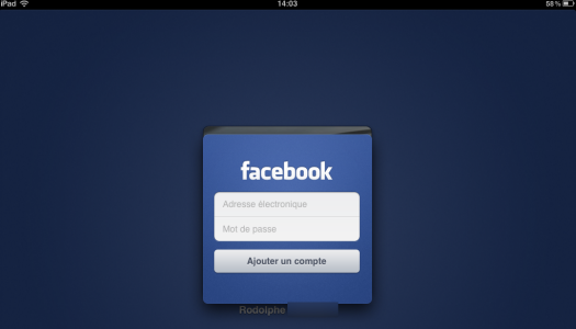 Facebook sur iPad