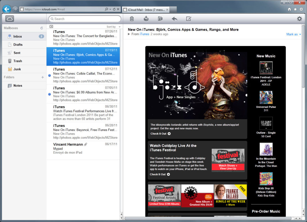 iCloud - Mail