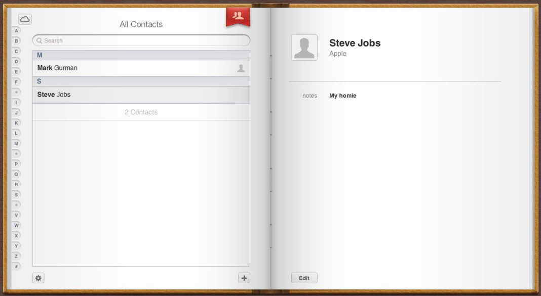 iCloud - Contacts