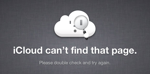 iCloud - Erreur 404