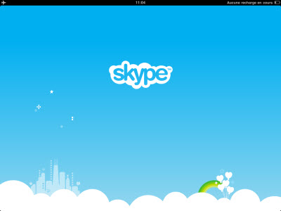 Skype disponible sur iPad