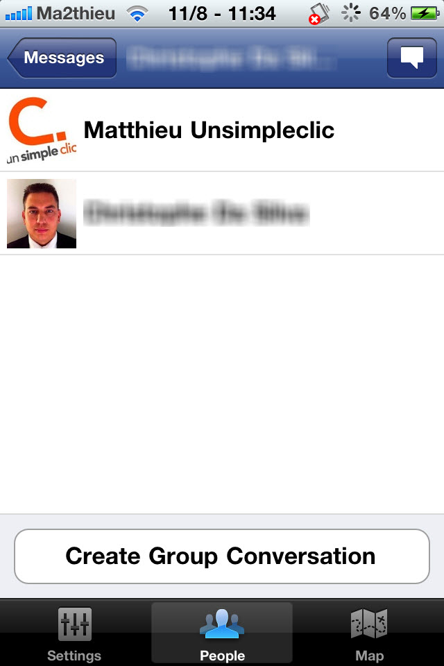 Facebook Messenger : Discuter avec un groupe de personnes