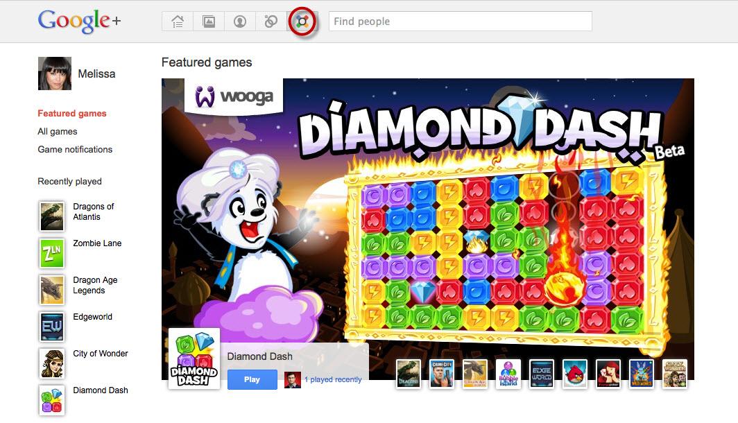 Les jeux arrivent sur Google+