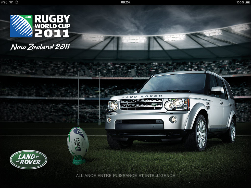 Rugby World Cup 2011 New Zealand - Accueil iPad