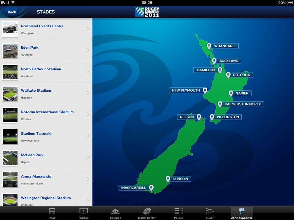 Rugby World Cup 2011 New Zealand - Stade [iPad]