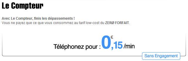Zero Forfait - Le Compteur