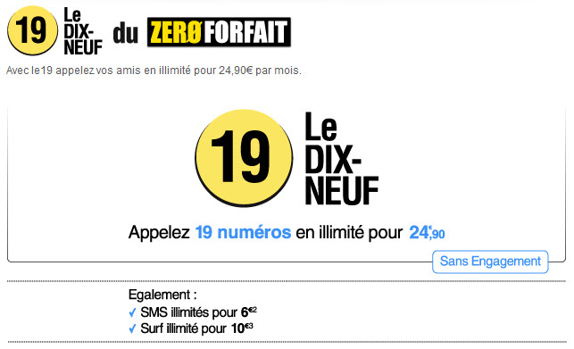 Zero Forfait - Le 19