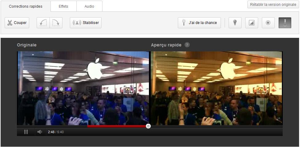 Youtube : Editeur de vidéos, convertion 3D et arrêt de la limite de 15 minutes!