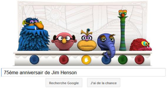 Google fête le 75ème anniversaire de Jim Henson, le créateur de Muppet Show