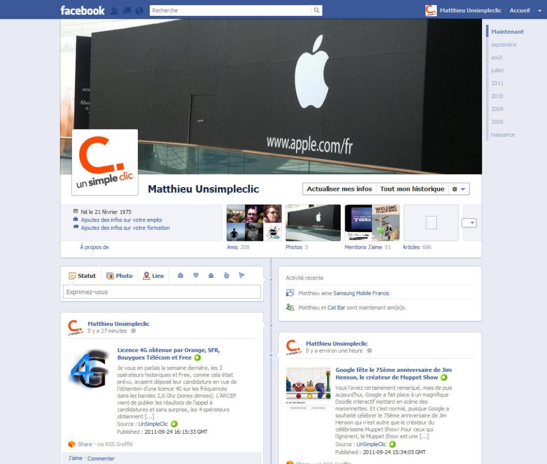 Conférence f8 : Facebook Timeline