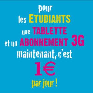 """Le gouvernement lance l'opération """"une tablette pour 1€/jour"""" pour les étudiants"""