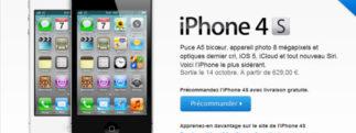 L'iPhone 4S est disponible en pré-commande