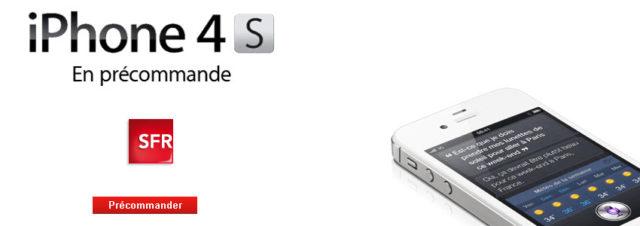 iPhone 4S - Pré-commande et tarifs SFR