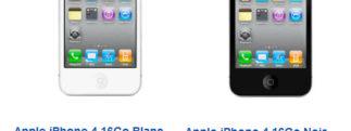 iPhone 4 - Tarifs SFR du modèle 16Go