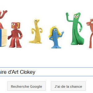 Doodle Google pour le 90ème anniversaire d'Art Clokey