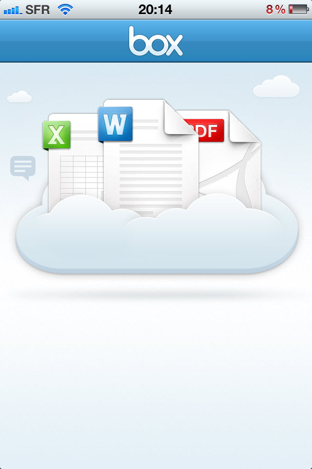 Box.net - Lancement de l'application