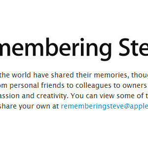 Steve Jobs - Apple active la page web en son hommage