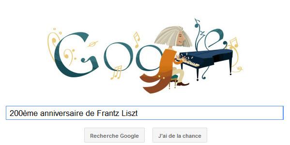 Google fête le 200ème anniversaire de Frantz Liszt