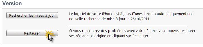 iOS 5 – Revenir sous un iOS antérieur (4.3.X)