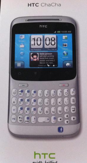 HTC Chacha facade