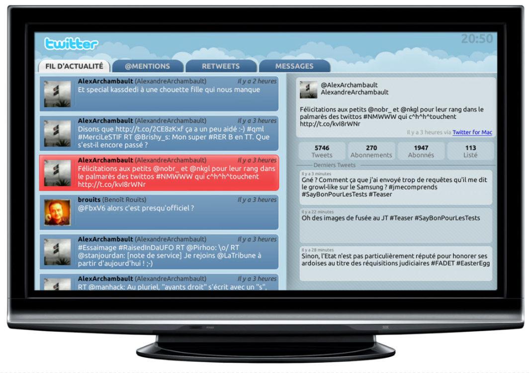 Twitter débarque sur la Freebox Revolution